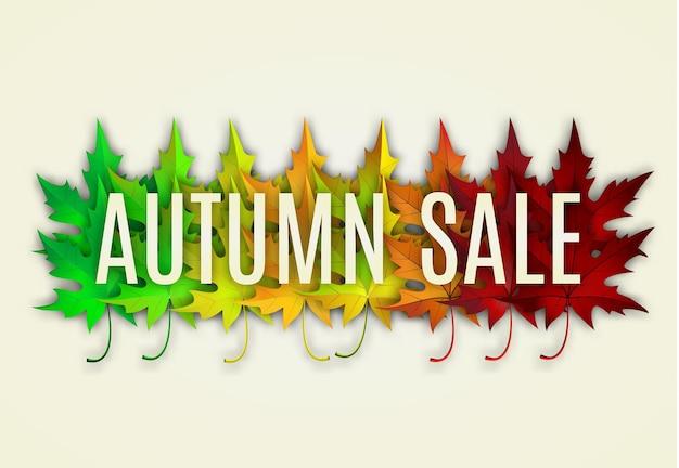 Diseño de venta de otoño.