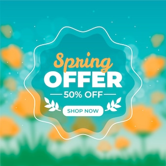 Diseño de venta de primavera estacional borrosa