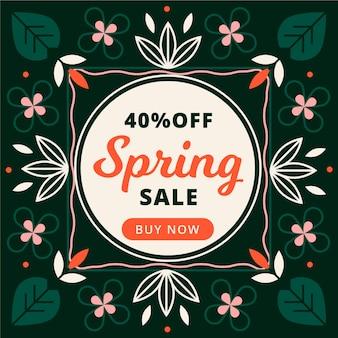 Diseño de venta de primavera promocional de diseño plano
