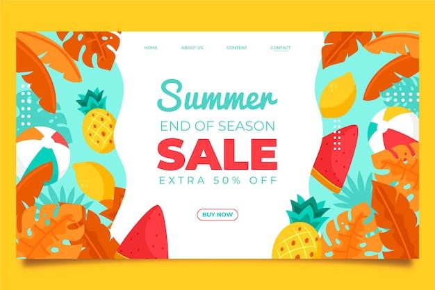 Diseño de venta de verano de fin de temporada