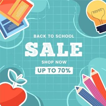 Diseño de ventas de regreso a la escuela