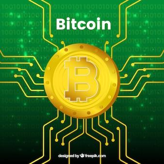Diseño verde de bitcoin