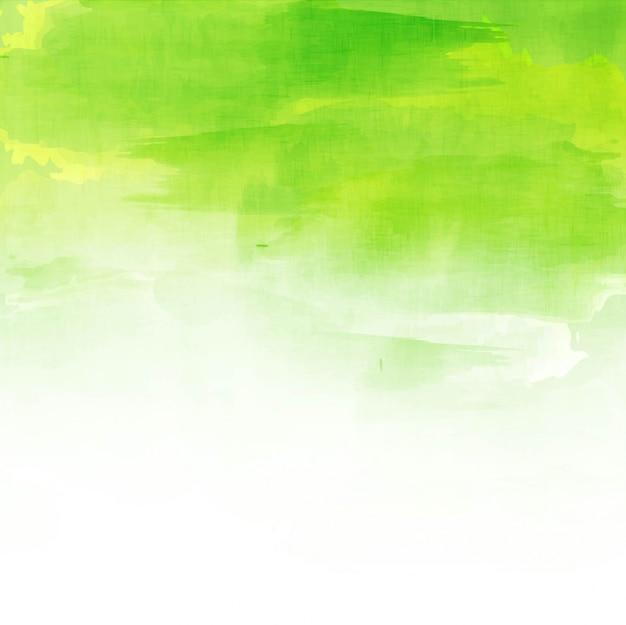 Diseño verde de fondo de acuarela