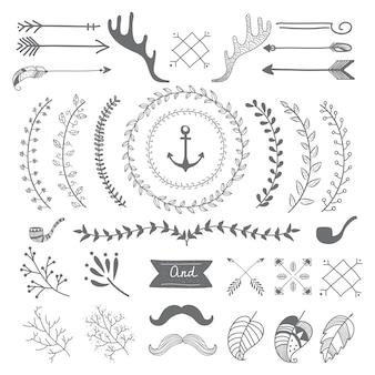 Diseño de viajes dibujados a mano