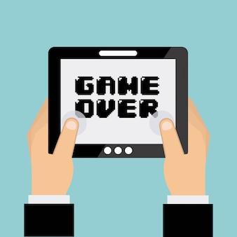 Diseño de videojuegos sobre fondo azul ilustración vectorial