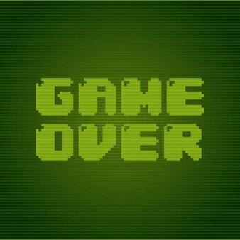 Diseño de videojuegos sobre fondo verde ilustración vectorial