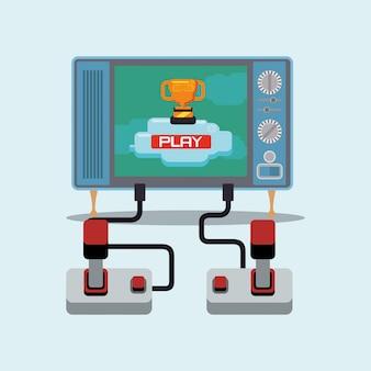 Diseño de videojuegos Vector Premium