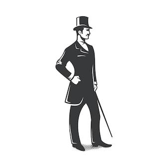 Diseño vintage caballero