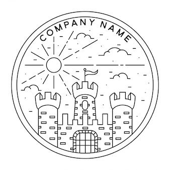 Diseño vintage del castillo de monoline