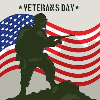 Diseño vintage del día de los veteranos