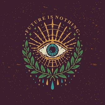 Diseño vintage eyes of horus