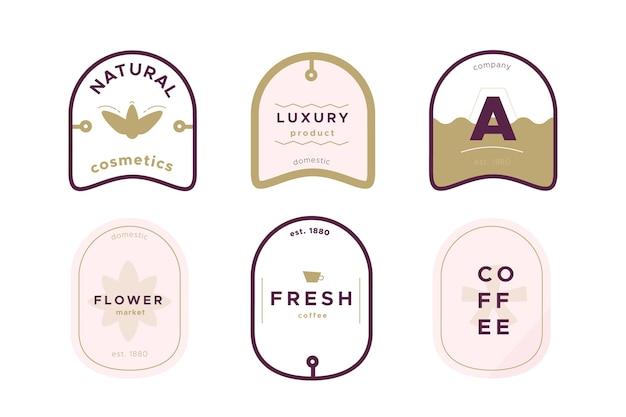 Diseño vintage para logotipos minimalistas de la empresa.