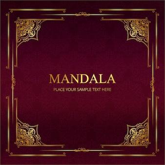 Diseño vintage de lujo de marco de mandala