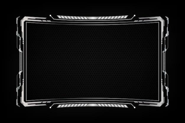 Diseño virtual del sistema de pantalla futurista abstracto del fondo del marco.