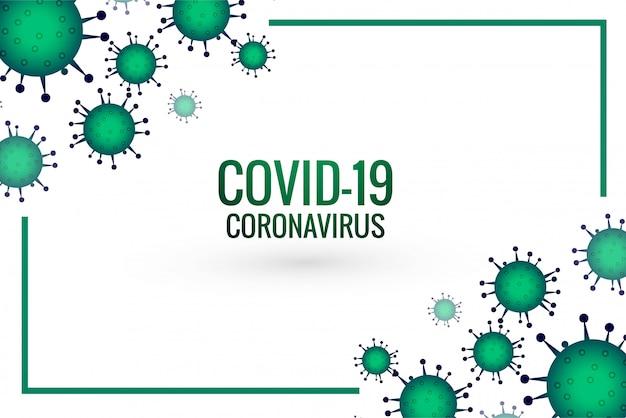 Diseño de virus de brote pandémico de coronavirus covid-19