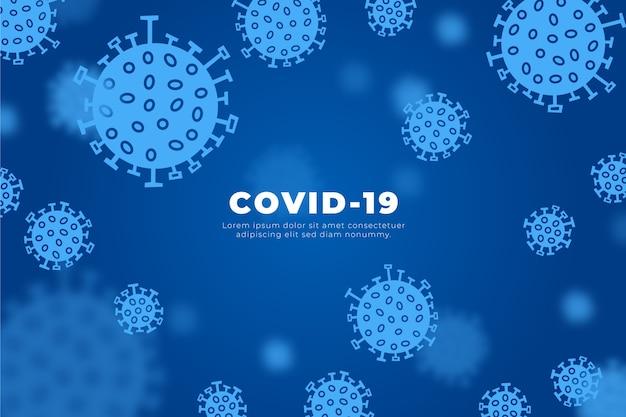Diseño del virus covid-19 concept