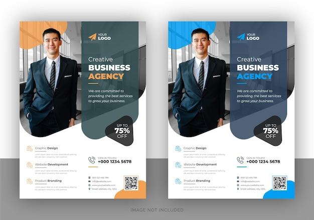 Diseño de volante promocional de marketing creativo y plantilla de portada de folleto