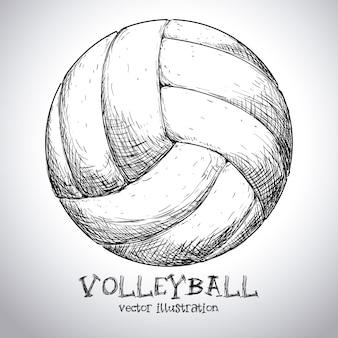 Diseño de voleibol sobre fondo gris ilustración vectorial