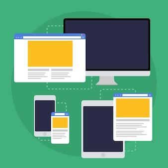 Diseño web adaptativo en diferentes dispositivos.