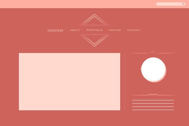 Diseño web para diseño de portafolio vectorial.