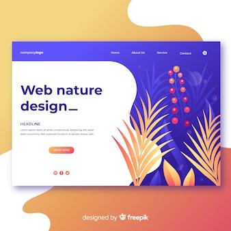 Diseño web de naturaleza en colors degradado