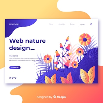 Diseño web de naturaleza en colors degradado