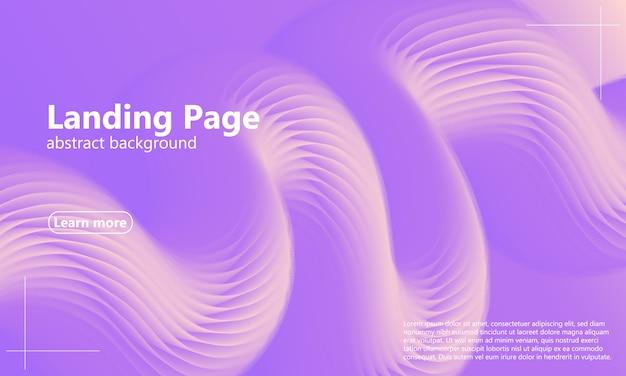 Diseño web de página de aterrizaje con diseño abstracto