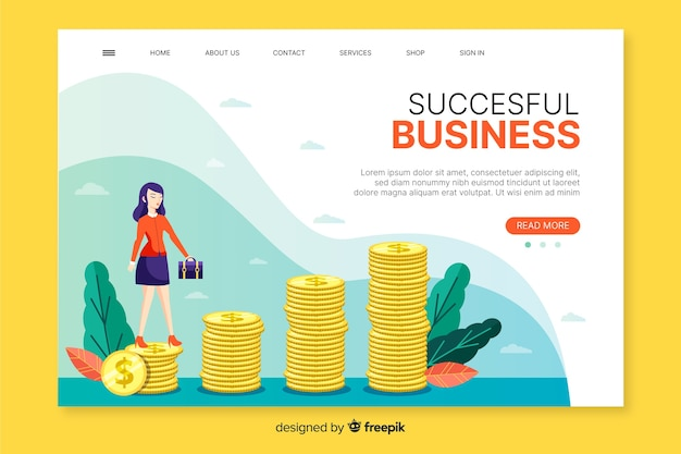 Diseño web de página de destino de negocios