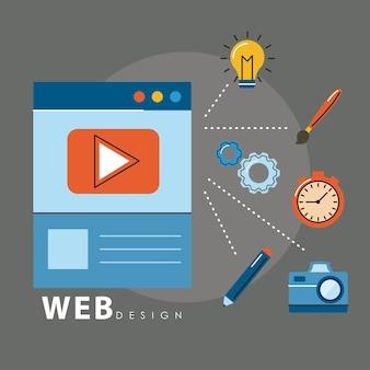 Diseño web en plantilla