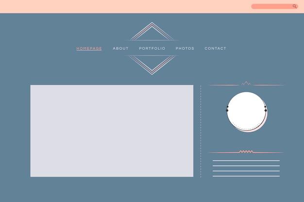 Diseño web para el vector de diseño de cartera