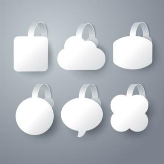 Diseño de wobbler blanco