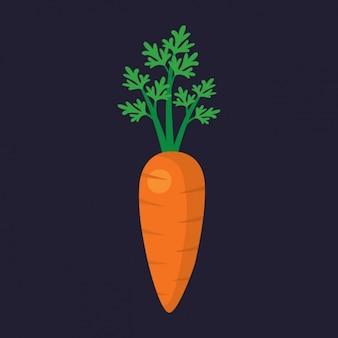 Diseño de zanahoria a color