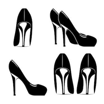Diseño de zapatos de mujer de moda