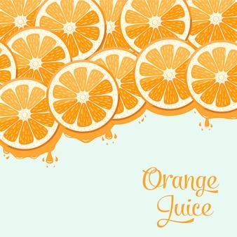 Diseño de zumo de naranja