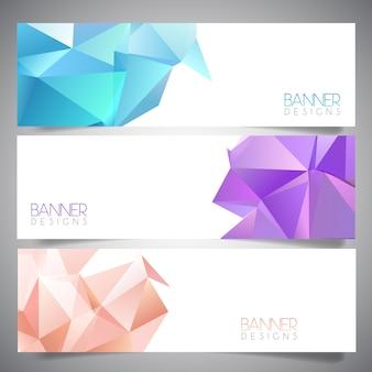 Diseños abstractos de banner
