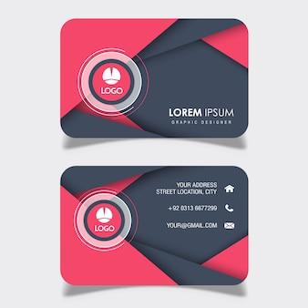 Diseños abstractos de tarjetas de visita