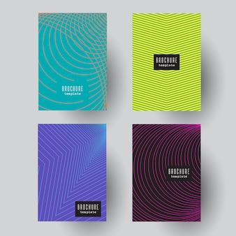 Diseños abstractos de folletos