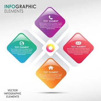 Diseños abstractos de infografía