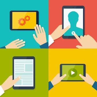 Diseños de aplicaciones de tablets y móviles