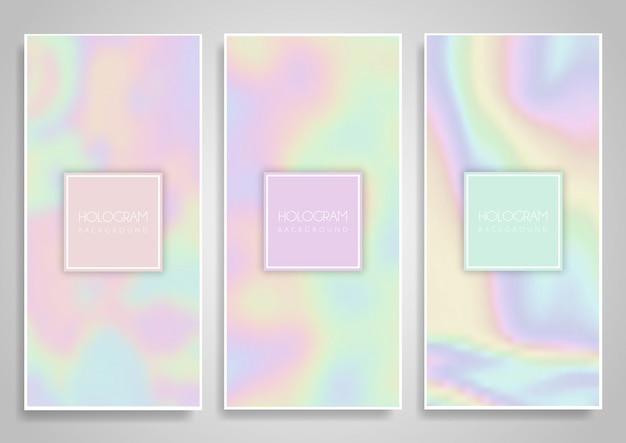 Diseños de banner de holograma