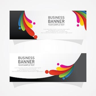 Diseños de banner de negocios vectoriales abstractos