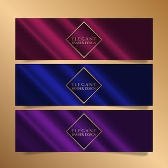 Diseños de banners elegantes