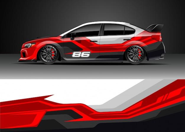 Diseños de calcomanías para autos de carrera