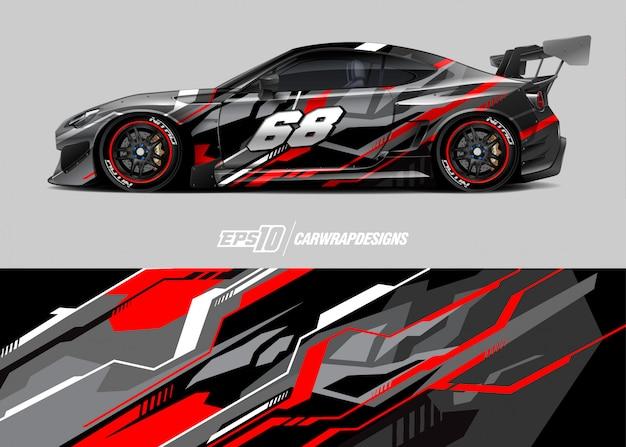 Diseños de calcomanías de autos de carrera