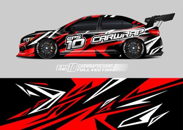 Diseños de calcomanías de autos de carreras