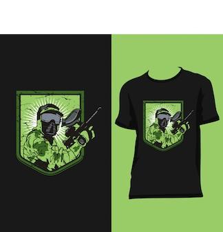 Diseños de camisa de ejército premium