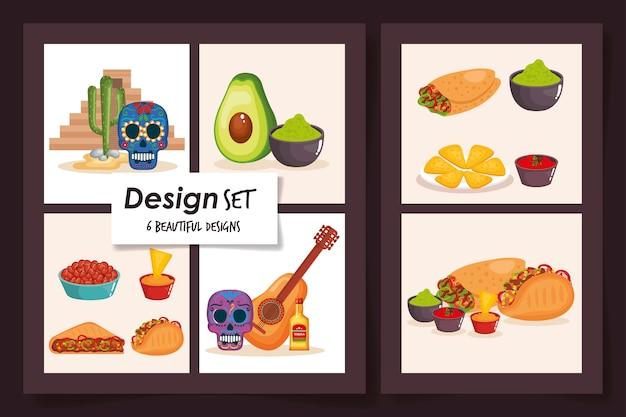 Diseños de comida mexico tradicional