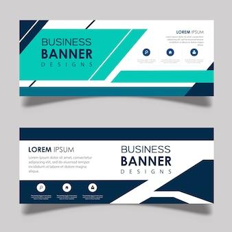 Diseños de banner vector abstracto
