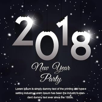 Diseños de carteles creativos de año nuevo