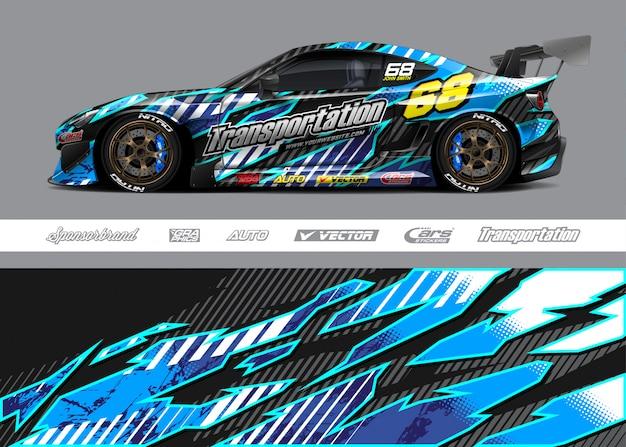 Diseños de envoltura de autos de carrera
